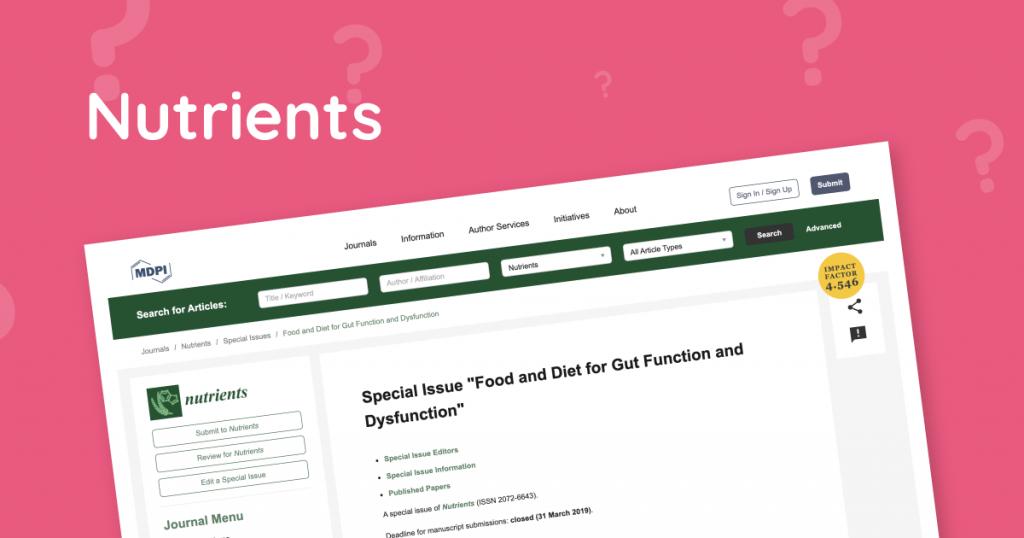 Speciale editie Nutrients